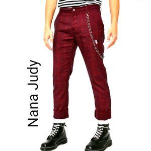 Nana Judy Disney X 101 Dalmatians Plaid Bond Pants